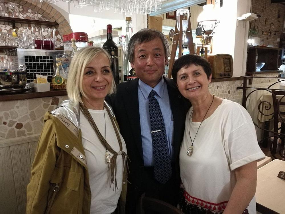Yasuyuki Nemoto con Cati a e Manuela - Acqua Viva 2018 Bellaria