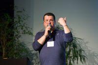 Giorgio Beltrammi durante la conferenza